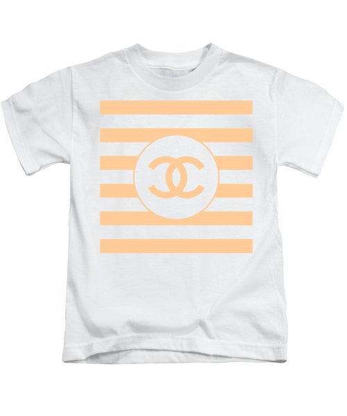 Chanel - Stripe Pattern - Beige - Fashion And Lifestyle Kids T-Shirt