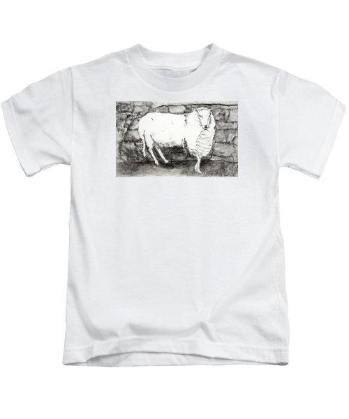 Charcoal Sheep Kids T-Shirt