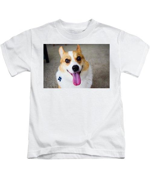 Charlie The Corgi Kids T-Shirt