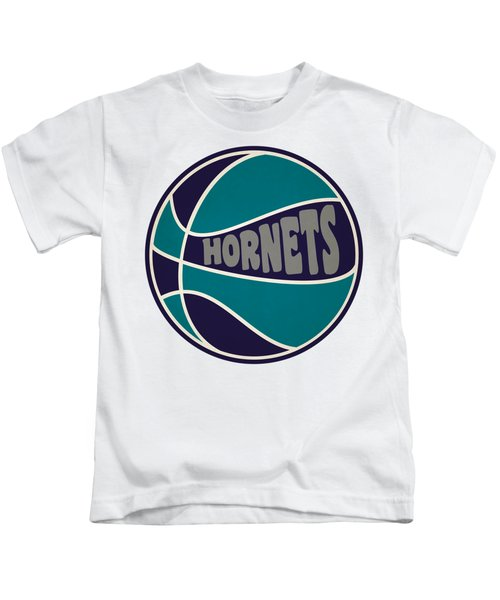 Charlotte Hornets Retro Shirt Kids T-Shirt by Joe Hamilton