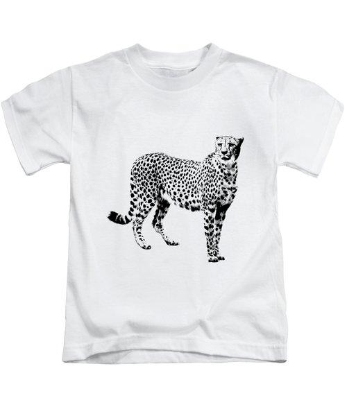 Cheetah Cutout Kids T-Shirt by Greg Noblin