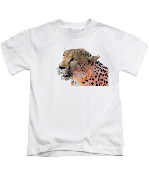 Cheetah Golden Eye Kids T-Shirt