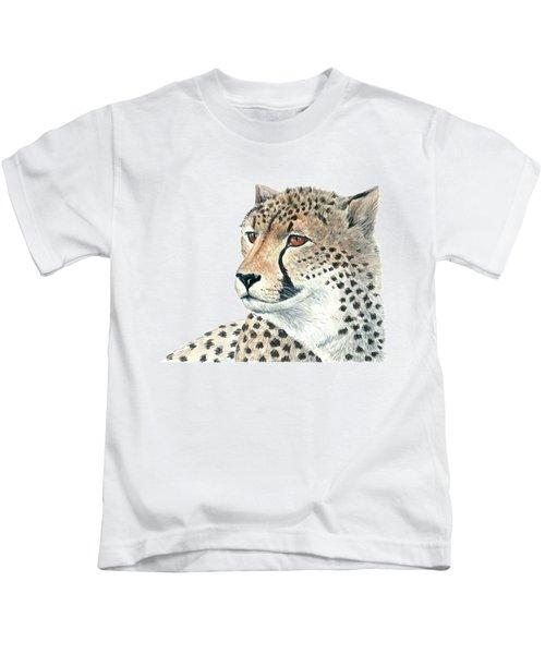 Cheetah Kids T-Shirt by Katerina Kirilova