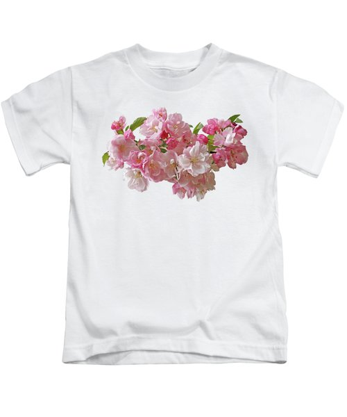 Cherry Blossom On White Kids T-Shirt