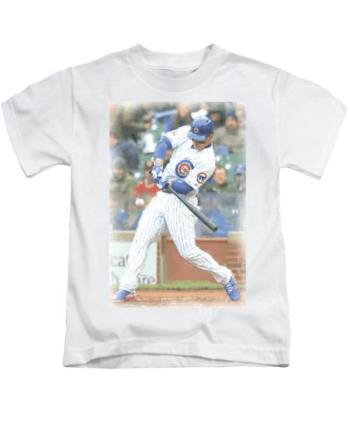 Chicago Cubs Anthony Rizzo Kids T-Shirt