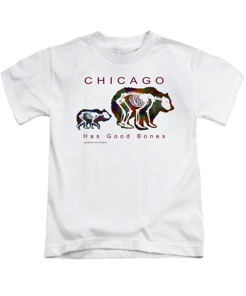 Chicago Has Good Bones Watercolor Kids T-Shirt