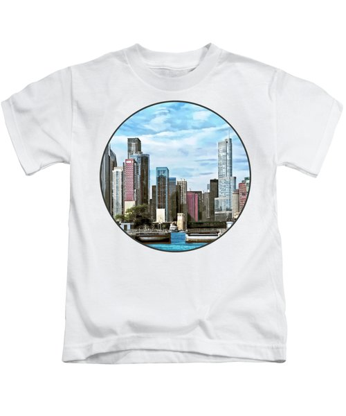 Chicago Il - Chicago Harbor Lock Kids T-Shirt by Susan Savad