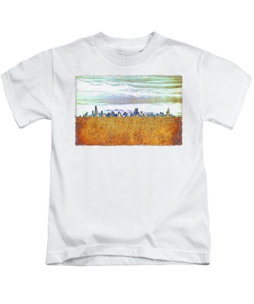 Chicago Skyline Kids T-Shirt by Di Designs