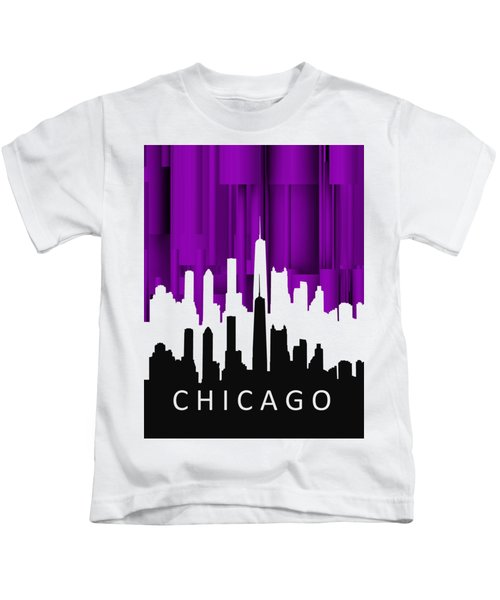 Chicago Violet In Negative Kids T-Shirt