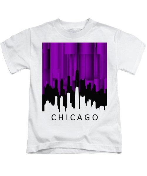 Chicago Violet Vertical  Kids T-Shirt