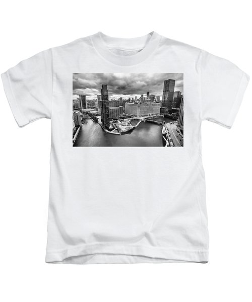 Chicago's Wolf Point From The 27th Floor Kids T-Shirt