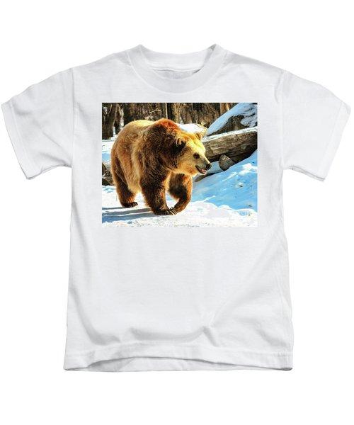 Chief Walking Bear Kids T-Shirt