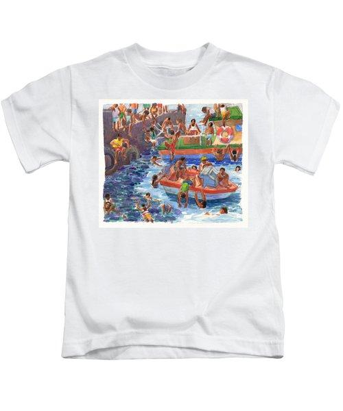 Children Playing At Avarua Wharf  Kids T-Shirt