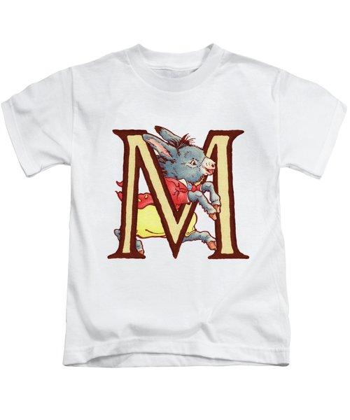 Children's Letter M Kids T-Shirt by Andrea Richardson