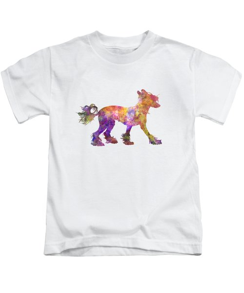 Chinese Crested Dog 01 In Watercolor Kids T-Shirt