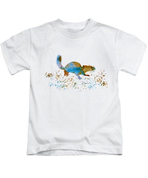 Chipmunk Kids T-Shirt by Mordax Furittus