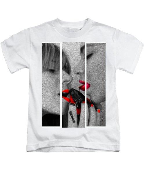 Chocolate Kiss-tryptych Kids T-Shirt