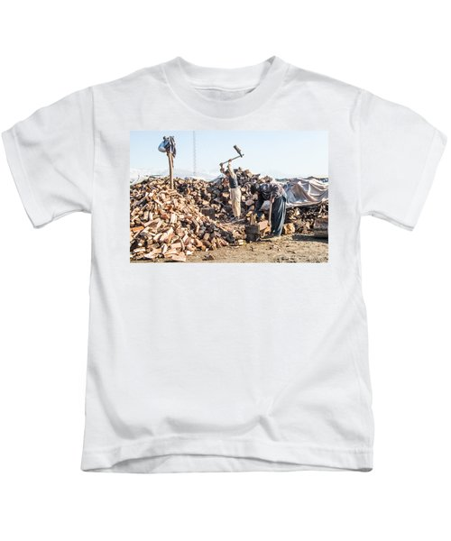 Chopping Wood Kids T-Shirt