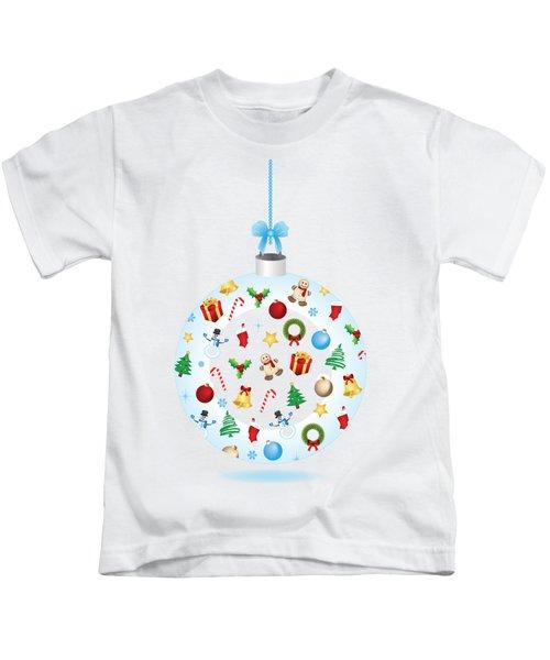 Christmas Bulb Art And Greeting Card Kids T-Shirt