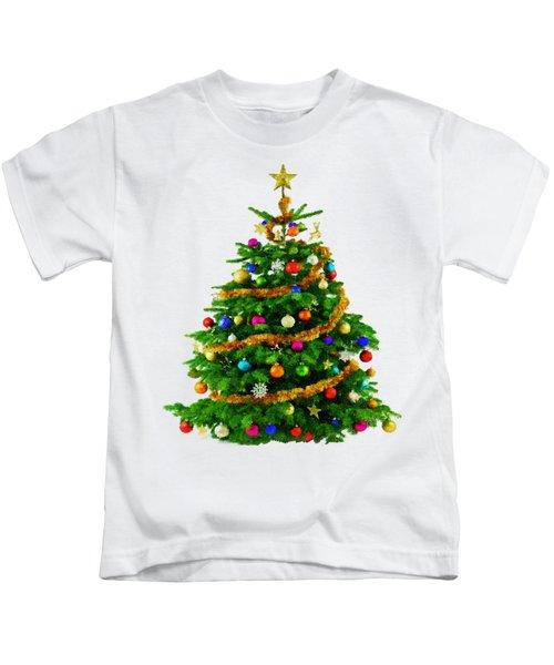 Christmas Tree 1417 Kids T-Shirt