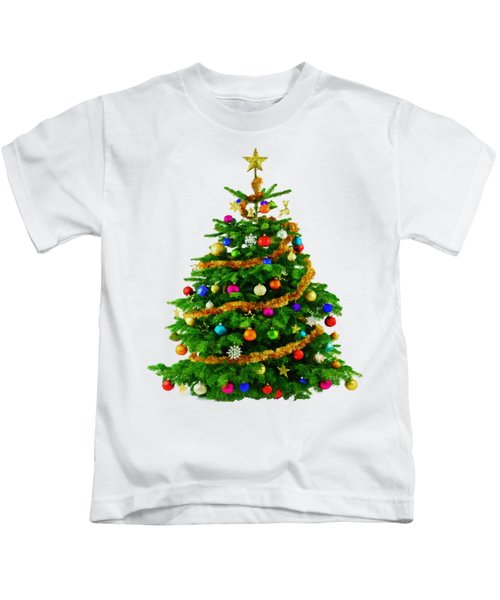Christmas Tree 1417 Kids T-Shirt