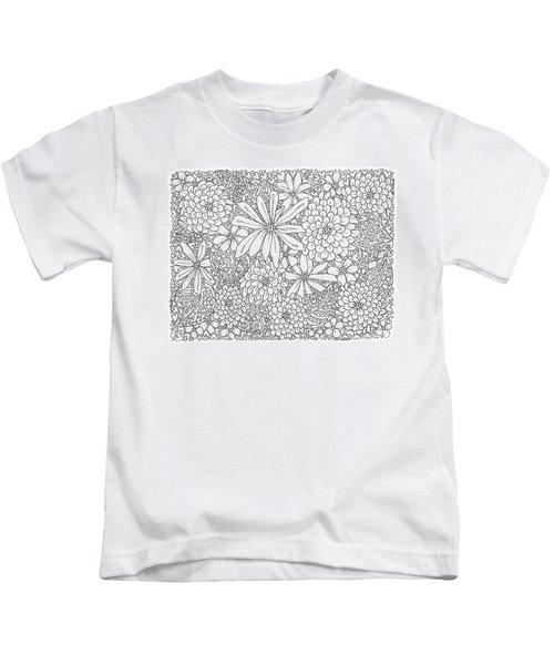 Chrysanthemums And Daisies Living In Harmony Horizontal Kids T-Shirt