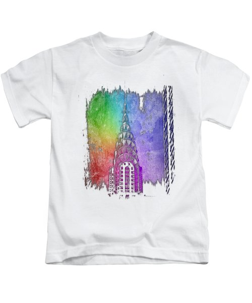 Chrysler Spire Cool Rainbow 3 Dimensional Kids T-Shirt