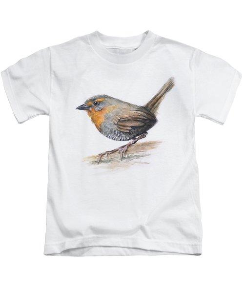Chucao Tapaculo Watercolor Kids T-Shirt