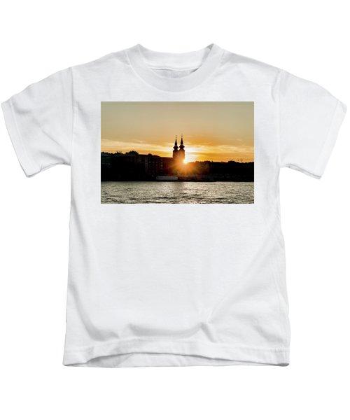 Church Tower Silhouette Kids T-Shirt