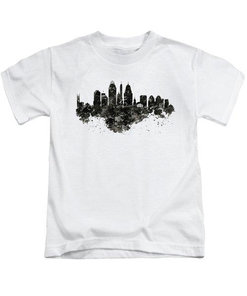 Cincinnati Skyline Black And White Kids T-Shirt