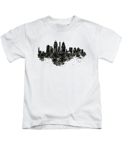Cincinnati Skyline Black And White Kids T-Shirt