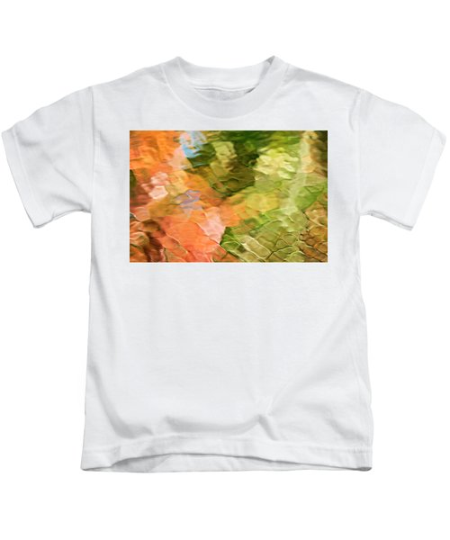 Cinnamon And Spice Mosaic Abstract Kids T-Shirt