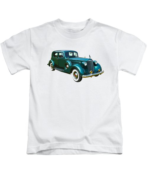 Classic Green Packard Luxury Automobile Kids T-Shirt