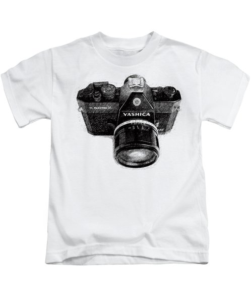 Classic Yashica Slr Film Camera Kids T-Shirt