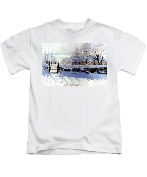 Claude Monet The Magpie - To License For Professional Use Visit Granger.com Kids T-Shirt
