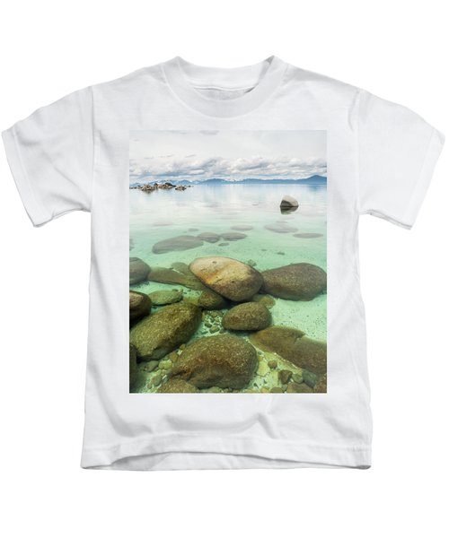 Clear Water, Stormy Sky Kids T-Shirt