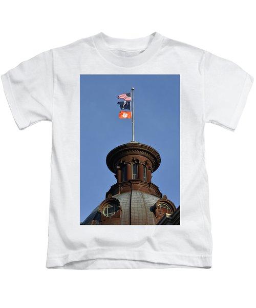 Clemson Flag At State House Kids T-Shirt