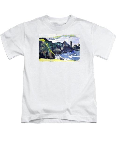 Cliffs In The Sea Kids T-Shirt