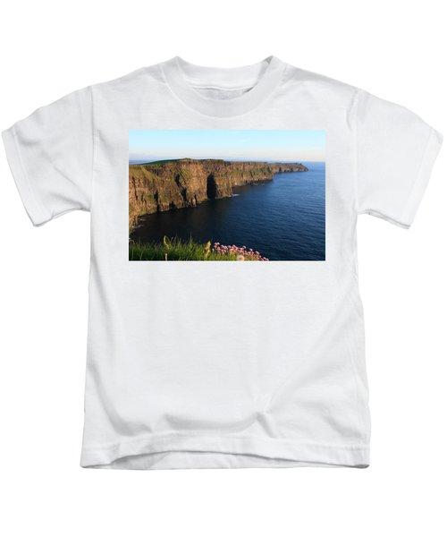 Cliffs Of Moher In Evening Light Kids T-Shirt