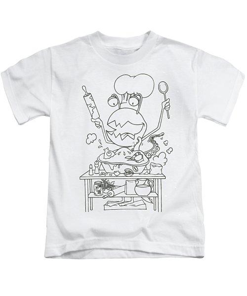 Closet Monster Baking Kids T-Shirt