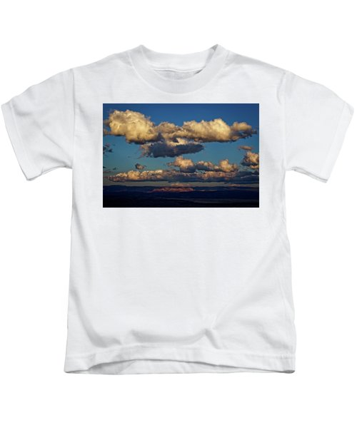 Clouds And Red Rocks Hdr Kids T-Shirt