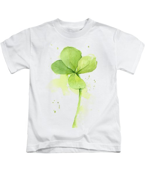 Clover Watercolor Kids T-Shirt