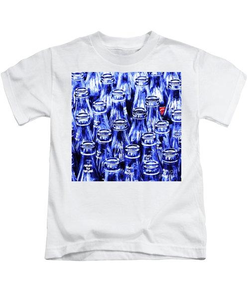 Coca-cola Coke Bottles - Return For Refund - Square - Painterly - Blue Kids T-Shirt