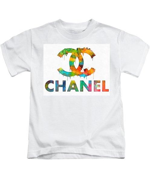 Coco Chanel Paint Splatter Color Kids T-Shirt