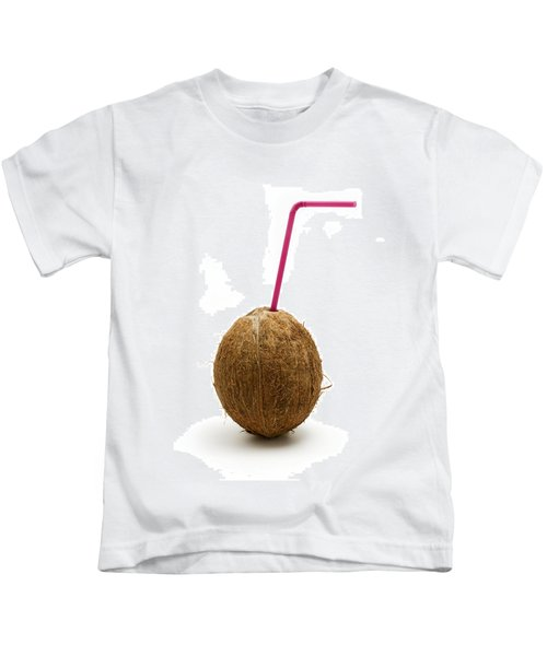 Coconut With A Straw Kids T-Shirt