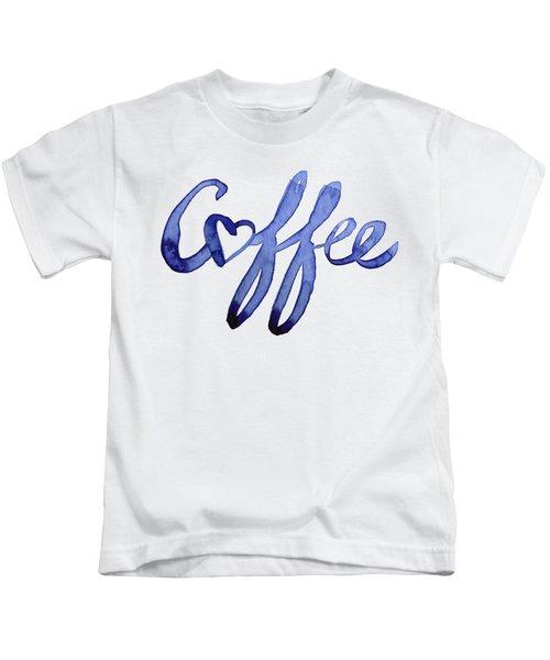Coffee Love Typography Kids T-Shirt