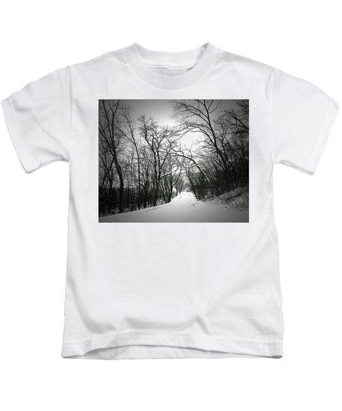 Cold Black Road Kids T-Shirt