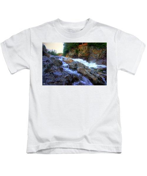 Color Steps At Livermore Falls Kids T-Shirt