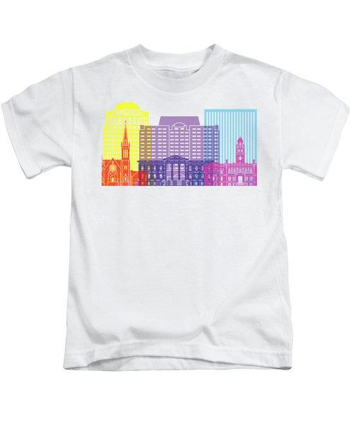 Colorado Springs_v2 Skyline Pop Kids T-Shirt