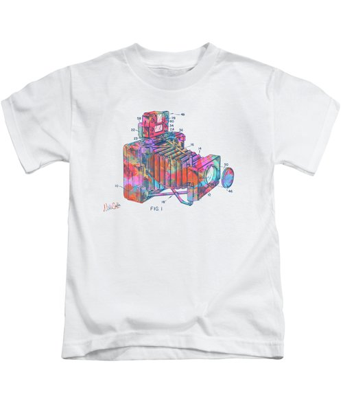 Colorful 1966 Photographic Camera Accessory Patent Minimal Kids T-Shirt